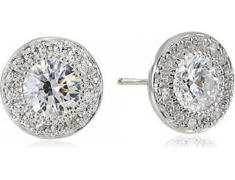 90% off Platinum-Plated Sterling Silver Swarovski Zirconia Earrings