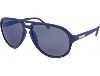 86% off Calvin Klein Aviator Blue Sunglasses Blue Mirrored Lenses