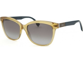 77% off Fendi Women's Square Translucent Yellow Sunglasses
