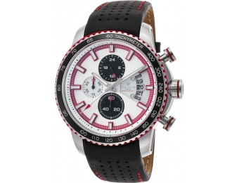 85% off Lancaster Italy Men's Freedom Chronograph Leather Watch