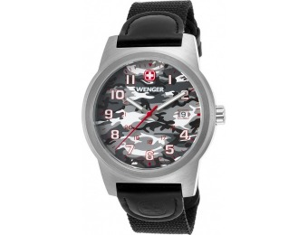 71% off Wenger Men's Field Color Leather Camo Dial Watch