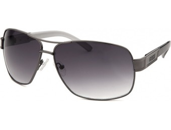 78% off Guess Men's Aviator Gunmetal and Grey Sunglasses