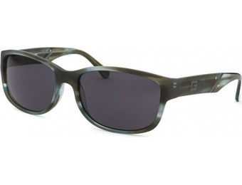 81% off Guess Men's Rectangle Green Marble Sunglasses