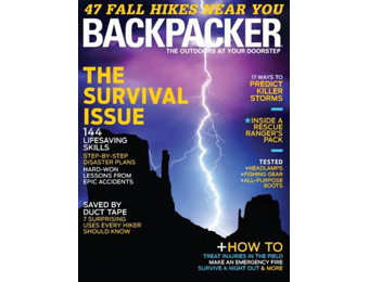 86% off Backpacker Magazine Subscription, $4.99 / 9 Issues