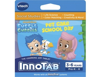 84% off VTech InnoTab Bubble Guppies: Pet Care School Day Game
