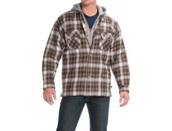 54% off Moose Creek Dakota Flannel Shirt Jacket - Hooded
