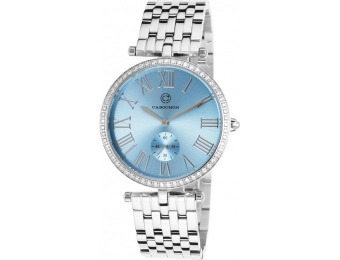 87% off Cabochon Carlita Stainless Steel Light Blue Dial Watch