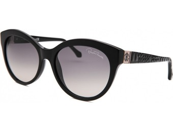 82% off Roberto Cavalli Women's Albaldah Round Black Sunglasses