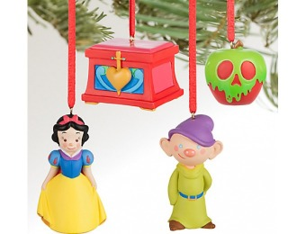 75% off Snow White and the Seven Dwarfs Ornament Set