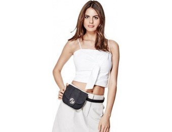 78% off Guess Quattro G Suede Belt Bag