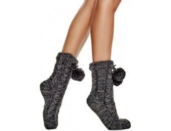 66% off Guess Slipper Socks with Poms