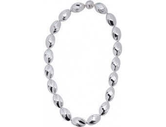 50% off Made In Italy Sterling Silver Fluted Bead Necklace