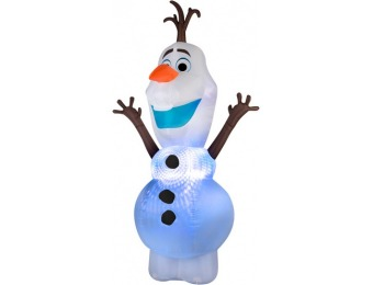 75% off Gemmy 9.51-ft x 4.75-ft Lighted Olaf Christmas Inflatable