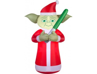 75% off Gemmy 6ft Lighted Star Wars Yoda Christmas Inflatable