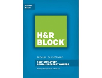 $40 off H&R Block Tax Software Premium: Self-Employed/Rental