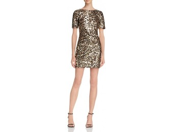 78% off French Connection Leo Cheetah Print Sequined Dress