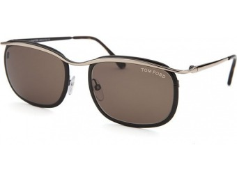 80% off Tom Ford Marcello Square Brown and Rose Sunglasses