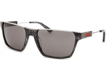 89% off Kenzo Rectangle Black Marble & Silver-Tone Sunglasses