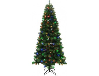 75% off 7.5-ft 789-Count Pre-Lit Alpine Artificial Christmas Tree