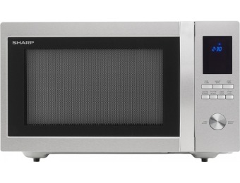 41% off Sharp 1.6 Cu. Ft. Family-Size Microwave - Stainless steel