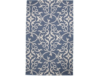 50% off Made In India Wool Tufted Damask Area Rug