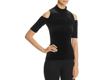 78% off Necessary Objects Velvet Cold Shoulder Top