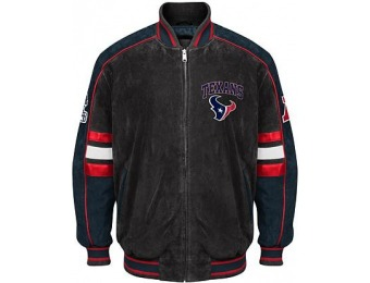 71% off Officially Licensed NFL Suede Jacket - Houston Texans