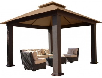 37% off STC Steel Square Permanent Gazebo (12-ft x 12-ft)