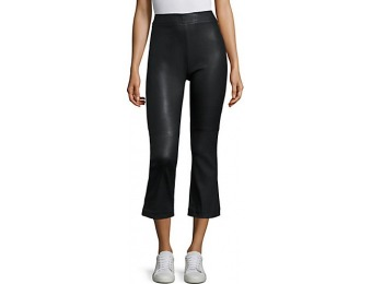 70% off IRO Beck Leather Cropped Flared Pants