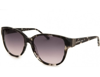 89% off Judith Leiber Women's Square Grey Tortoise Sunglasses