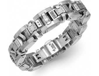 80% off Men's Rivet Bracelet in Stainless Steel + Extra 20% off
