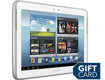 $50 off + $20 Gift Card w/ Samsung Galaxy Note 10.1 White Tablet