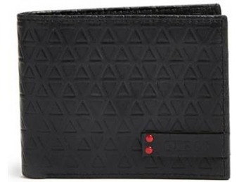 77% off Guess Hector Triangle-Embossed Billfold
