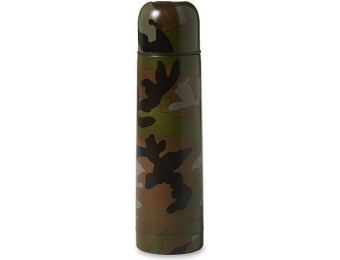 65% off Outdoor Life Vacuum Bottle - Camouflage, Green