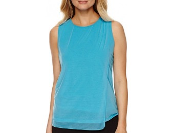 81% off Worthington Double-Layer Chiffon Mesh Pullover Top