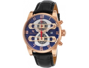 91% off Bosphorus Chronograph Leather Silver-tone And Blue Dial