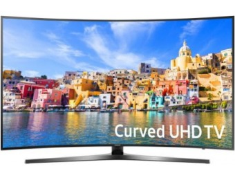 "$599 off Samsung 55"" 4K UHD LED Smart Curved TV UN55KU7500"