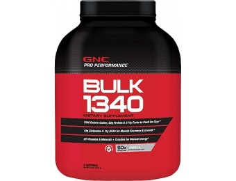 42% off GNC Pro Performance Bulk 1340 Supplement