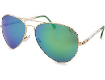 87% off Invicta Aviator Gold-Tone Sunglasses