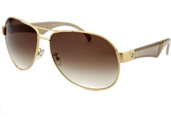 87% off Invicta Women's Reserve Aviator Gold-Tone Sunglasses