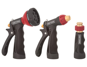 33% off Craftsman 3pc. Water Hose Metal Nozzle Set