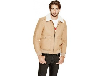 67% off Guess Factory Corbett Wool-Blend Bomber Jacket
