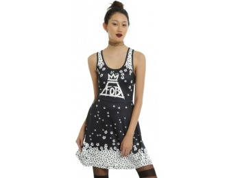 75% off Fall Out Boy Falling Flowers Dress