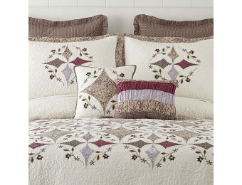 87% off Home Expressions Lavender Pieced Bedspread