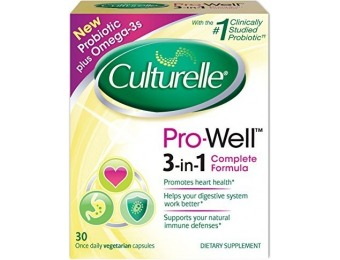 48% off Culturelle Pro-Well Supplements, Probiotic + Omega-3