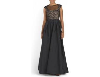 87% off Cap Sleeve Long Gown