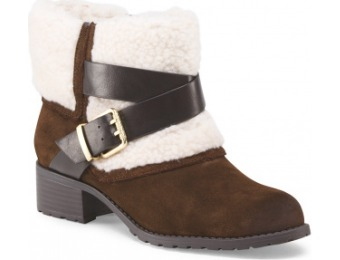 77% off Charles David Faux Fur Cuff Buckle Bootie