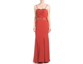 67% off Pamella Roland Strapless Gown With Beaded Insets