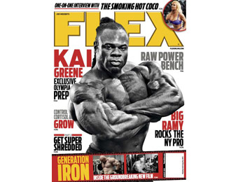 93% off Flex Magazine Annual Subscription, $4.99 / 12 Issues