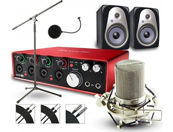 62% off Focusrite 18I8 Recording Bundle With Mxl Mic And Speakers